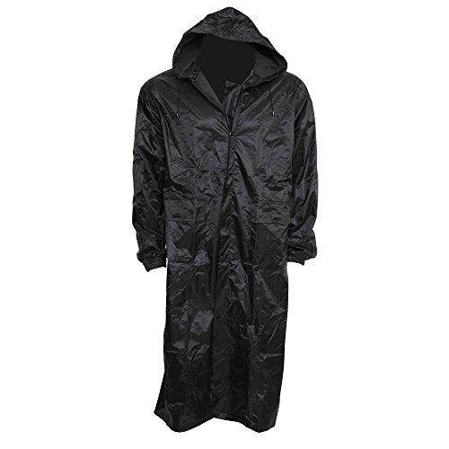 Mens Waterproof Hooded Rain Coat (L Chest: 36-40inch) - Work Jacket Raincoat Pvc Mens
