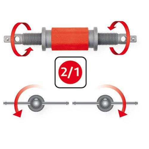 4 pz. KS Tools 150.1965 Dispositivo di pressione e rotazione universale