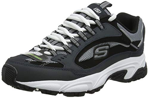 Skechers  Men's Stamina  Cutback Lace-Up Sneaker,Navy Cutback,7.5 M US