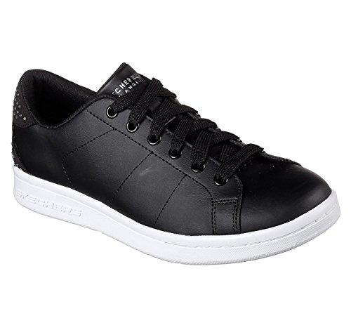 Womens Black Skechers Sneakers Back Shine Omne RSwwxqYta