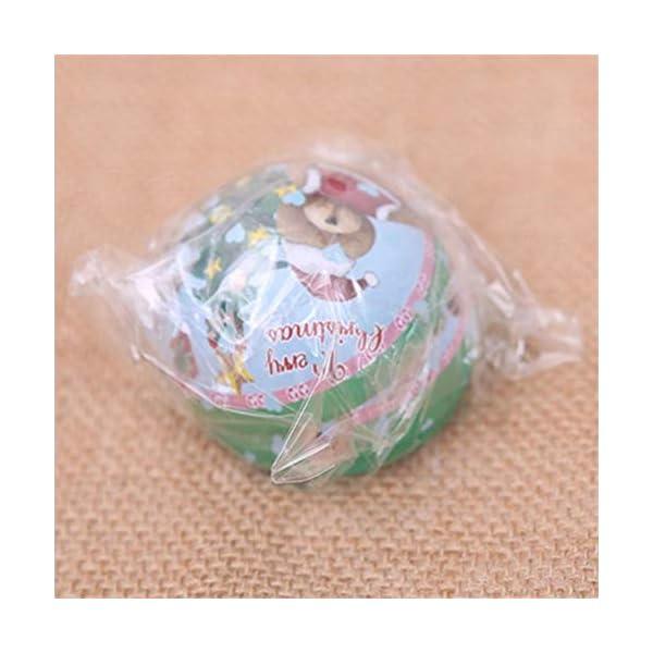 Amasawa 6 Pezzi Palle di Natale, Decorazioni per Alberi di Natale, Decorazioni Natalizie,Candy Can, 2,7 Pollici / 7 cm Tema dell'albero di Natale 6 spesavip