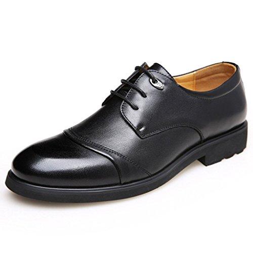 iLory Business Schuhe Herren Derby Schnürhalbschuhe Freizeit Leder Schuhe Oxfords Schnürschuhe
