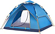4 Person Outdoor Camping Tent, Waterproof Lightweight Pop Up Tent Easy Instant Tent for Beach, Hiking, Camping