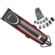 New Oster 76 Outlaw Dual Speed (2-speed first and turbo) Clipper 76077-010 Professional Pro Hair cut Wet or Dry with Free Case and 10 piece Comb Guide Set with Pouch.