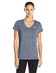 Under Armour Women's Tech V-neck Twist Top, Academy (408)metallic Silver, X-large