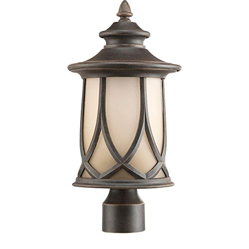 Progress Lighting P6404-122DI Resort 1-Light Outdoor Aged Copper Post Lantern