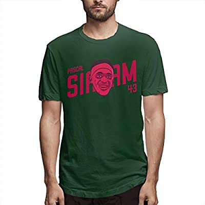 Men's T-Shirt Pa-scal Sia-kam of MVP Men's Short Sleeve Slim T-Shirt Men