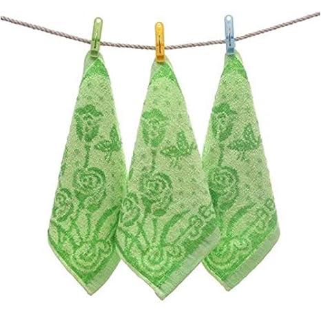 Bearony Suave Juego de 10 Toallas de algodón Rose Patern Toallas para niños Toallas de Mano Toallas Familiares: Amazon.es: Hogar