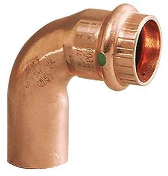 "Press 3//4/"" Street x 90° Degree Elbow Copper Press Fitting 5 Pack"