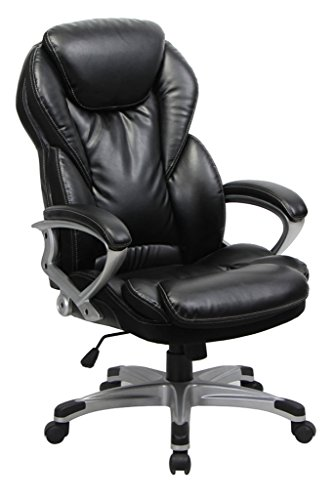 VIVA OFFICE Thick Padded High Back Bonded Leather Executive Chair with (Seat Minimal Contour Ergonomic Chair)