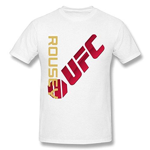QDYJM Men's UFC Ronda Rousey Champion Jersey T-shirt - S White