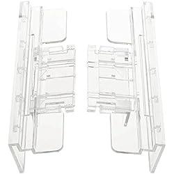 TOOGOO(R) Pairs Aquarium Tank Glass Cover Clip Support Holder 4-12mm
