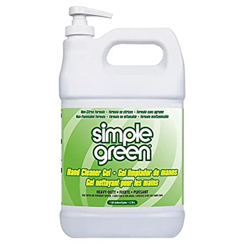 Simple Green 0910200442128 Hand Degreaser and Cleaner Gel with Lanolin in 1 gal Pump Bottles (Pack of - Simple Green Hand Cleaner