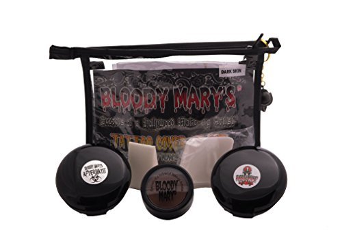 Bloody Mary Professional Dark Skin Tattoo Cover Up Kit ()