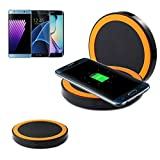 Cell Phone Charging Station Wireless Charger Charging Qi Enabled For iPhone Samsung Huawei 6 7 8 Plus X iPad---Orange