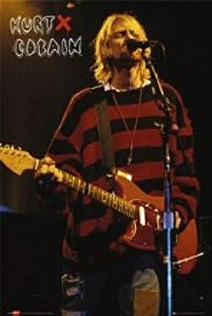 heißer verkauf authentisch verfügbar Top Qualität Kurt Cobain, rot-schwarzer Pulli, Poster 61 x 91 cm: Amazon ...