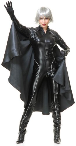 Thunder Storm Superhero Adult Costume,Black,Small -