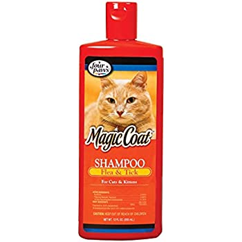 Four Paws Magic Coat Flea and Tick Cat Grooming Shampoo, 12oz
