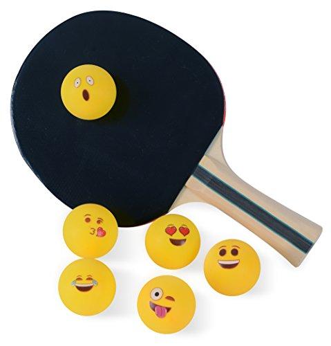 Emoji Universe Beer Pong Balls, Table Tennis Balls, 6-Pack by Kangaroo
