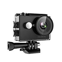 TEC.BEAN 4K Action Cam WIFI Sports Impermeabile Action Camera with 170°Grandangolare e Kit Accessori per Nuoto e altri Sport Esterni (Nero)