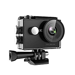 Tec.bean 4k Sport Action Camera 16mp Wifi Waterproof Camera 2inch Lcd Screen 170 Ultra Wide-angle Lens,2pcs Rechargeable Battery & Kits Of Accessories (Black)