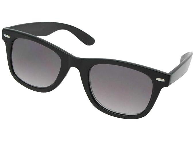 f083105dc4 Retro No Line Progressive Bifocal Sunglasses Style B125 (Black Frame-Gray  Lenses