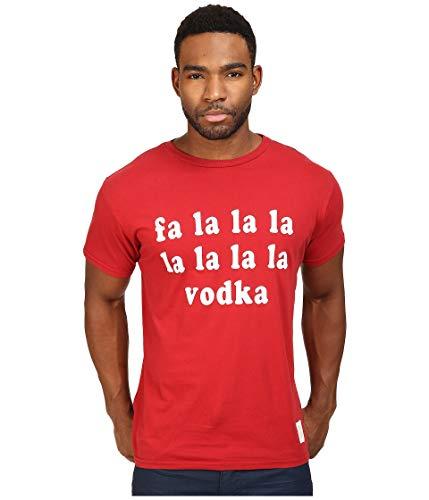 The Original Retro Brand FA La La Vodka Short Sleeve Vintage Cotton Tee Dark Red SM