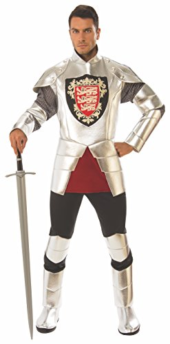Rubie's Men's Standard Silver Knight Costume, as as
