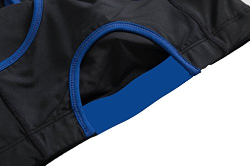 Bmeigo Mujer Fitness Tank Top Racerback Activewear Seamless Sport Bra Sujetador Deportivo Blue