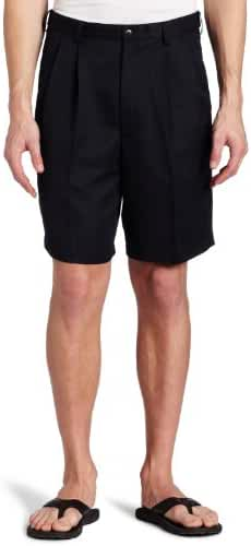Haggar Men's Cool 18 Hidden Expandable-Waist Pleat-Front Short