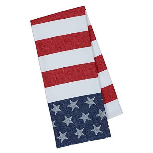Design Imports DII Stars & Stripes Jacquard Dishtowel