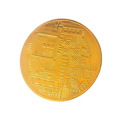 3 Pieces Bitcoin Coin Collection, Blockchain Coin, Commemorative Tokens, Gold Plated Bitcoin, Physical BTC, Protective Collectible Gift