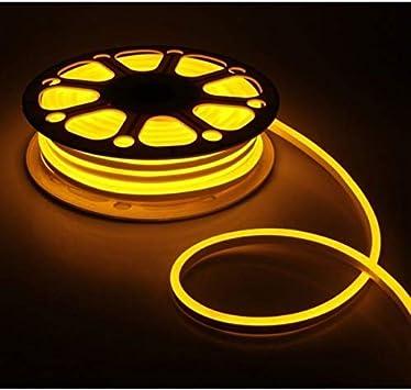 110V 100/' White Commercial LED Neon Rope Light Flex Tube Sign Decorative Outdoor