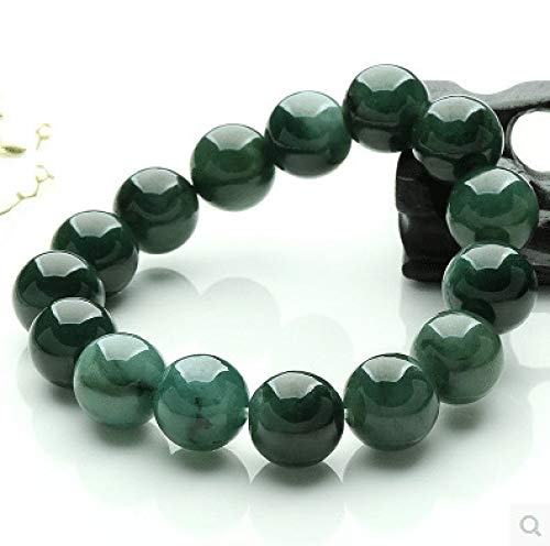 Mayanyan Natural Authentic Old Pit ice Species Jade Oil Green Beads Jade Bracelet Gift