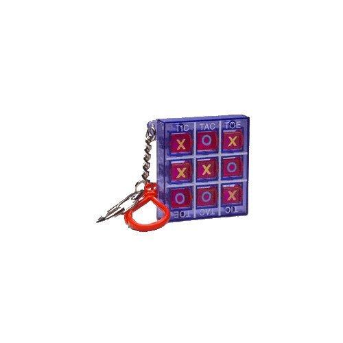 (Purple Tic Tac Toe Game Keychain by Basic Fun)