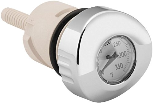 Biker's Choice 04-19 Harley XL1200C Oil Tank Dipstick with Temperature Gauge (White FACE)
