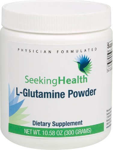 L-Glutamine Powder | 300 Grams | 5000 mg L-Glutamine USP | Free of Common Allergens | Seeking Health