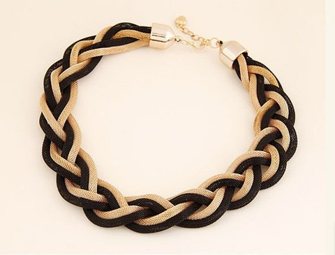 Weave Choker - Muching(TM) New Hot Sell Jewelry Bohemia Women Necklaces & Pendants 18K Gold Weave Link Chain Short Chokers Statement Necklace