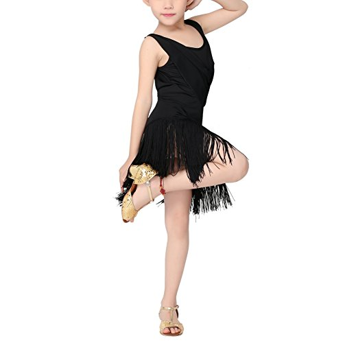 Loveble Kids Girls Latin Tassel Dance Dress Latin Tango Salsa Tassel Skirt Latin Costume