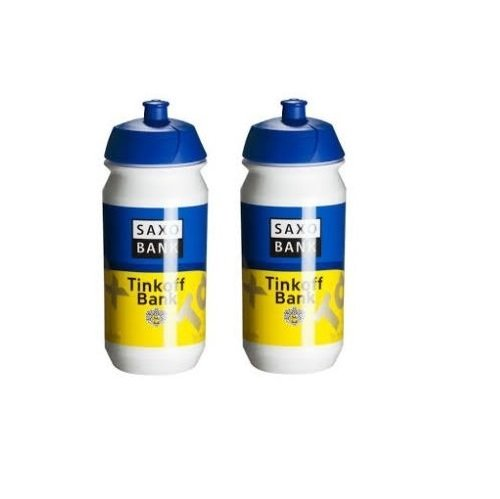 Tacx Saxo Bank Tinkoff Team Water Bottles (2 Pack) (Team Saxo Bank)