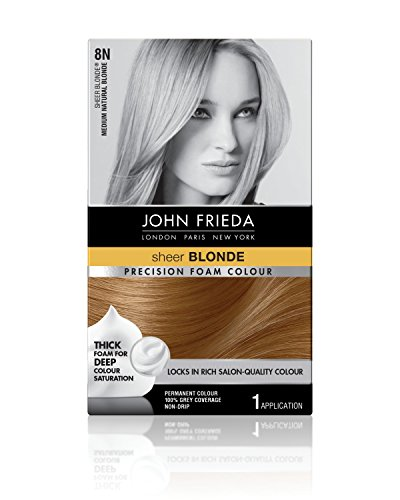 John Frieda Precision Foam Colour, Medium Natural Blonde 8N (Best Foam Hair Color)