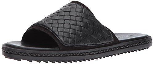 Tommy Bahama Men's Shore Crest Slide Sandal, Black, 8 D US