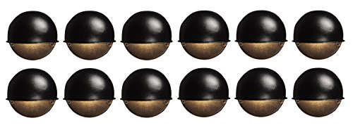 - 12 Pack Malibu 8301-9400-12 Surface Deck Step Path Lights, Round, Cast Metal, 7 Watt, Black Finish BY MALIBU DISTRIBUTION