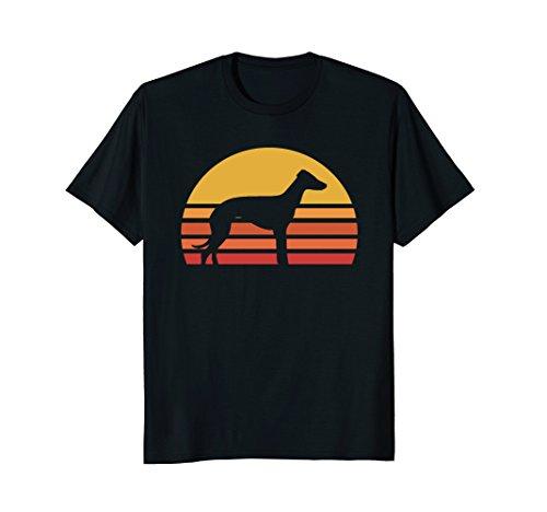 Retro Sun Italian Greyhound Silhouette T-shirt For Dog Owner