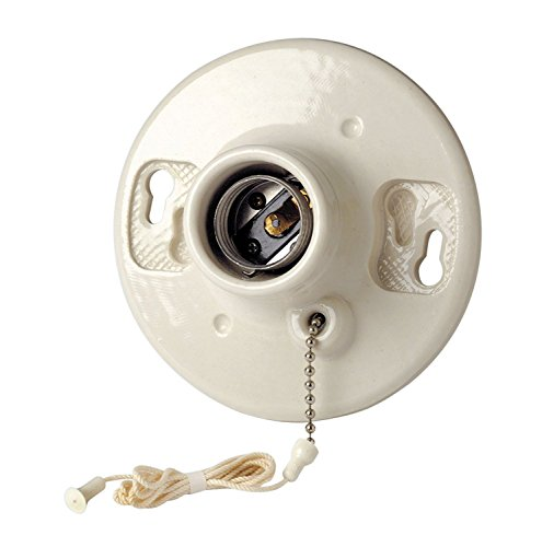 Leviton B01-29816-00C Porcelain Pull Chain Lamp Holder