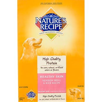 Nature's Recipe Healthy Skin Venison Dry Dog Food, 4.5-Pound