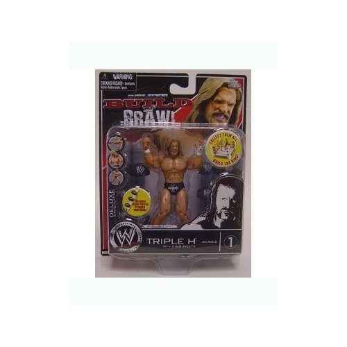 WWE: Build n Brawl Series 1 Triple H with Ring Posts 4 inch Action Figure toy [ parallel (Wwe Build N Brawl Ring)