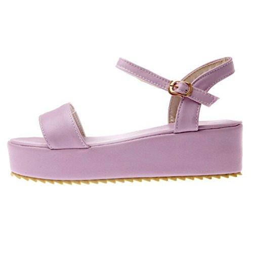 Farben 3 Plateau SJJH Sandalen Größe mit erhältlich 12 UK Casual Purple und Sandal Shoes a8Z0q0