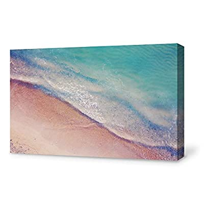 Canvas Wall Art Blue Wave Modern Home Decor Canvas Painting Wall Decoration for Bedroom Living Room - 12x18 inches
