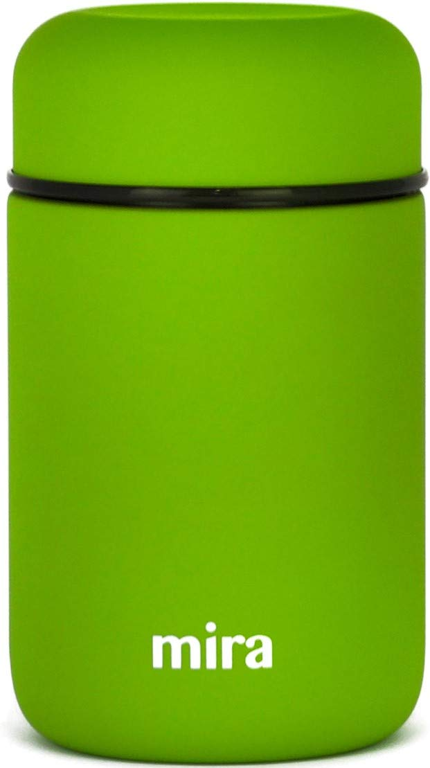 MIRA Lunch, Food Jar, Vacuum Insulated Stainless Steel Lunch Thermos, 13.5 Oz, Cactus Green